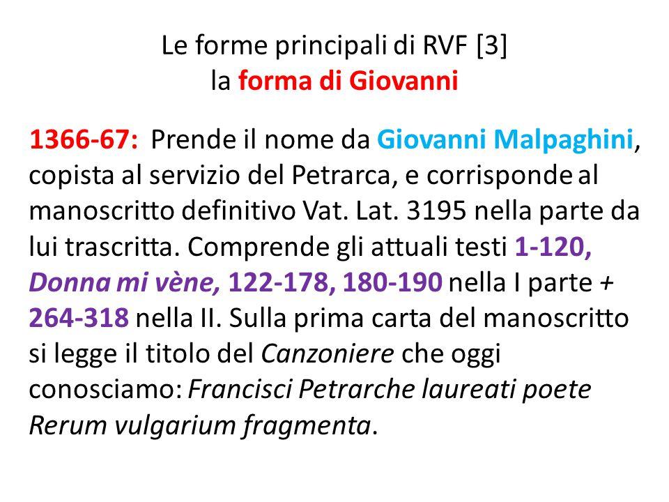 Le forme principali di RVF [3] la forma di Giovanni
